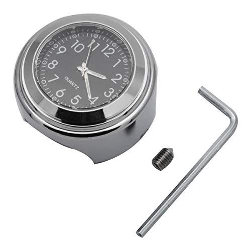 Riloer 2 pz 7 8  moto manubrio orologio e termometro, manubrio tavolo di montaggio precisione quadrante cronografo (nero)