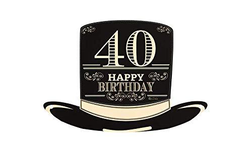 Givi Italia Paquete de 4 Sombreros de Copa en Papel para cumpleaños número 40