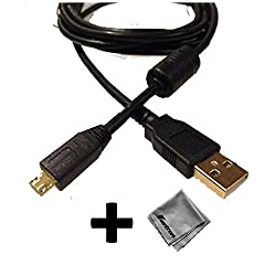 Black Gold-Plated USB 2.0 Cable for iHome iC50 Android Alarm Clock - 6ft