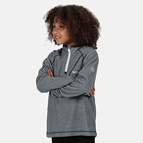 Regatta Polaire Technique Junior Loco avec Ouverture 1/2 Zip Fleece Mixte Enfant, Dark Denim, FR : L (Taille Fabricant : 7-8)