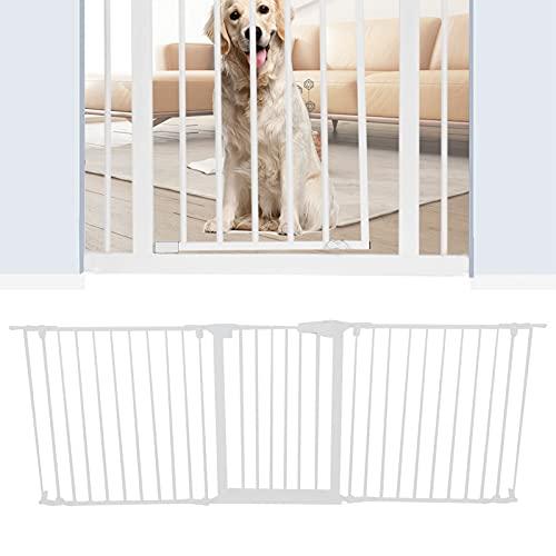 Barrera de seguridad estable para bebés, puerta para perros, con cierre automático para interiores, 1,2 x 74 x 205 cm