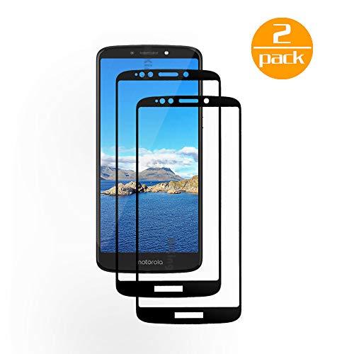 [2 Pack] Für Motorola Moto E5 Plus Panzerglas Schutzfolie (Schwarz), Bildschirmschutzglas Panzerfolie für Motorola Moto E5 Plus Schutzglas Folie [Ultra-klar] [9H Festigkeit] [Kristallklar] [Bubble Free]