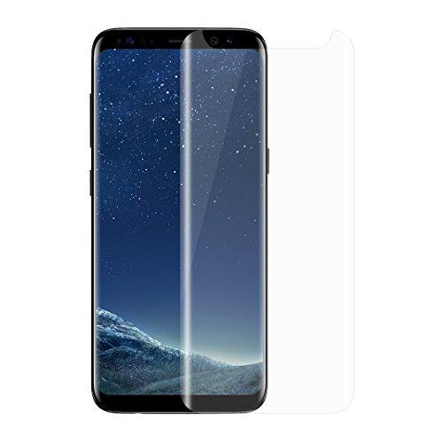 Asnlove Premium Gehärtetem Glas Displayschutzfolie für Samsung Galaxy S8 Plus Schutzfolie aus 9H Hartglas, Echtglas, Verbundglas - Transparent