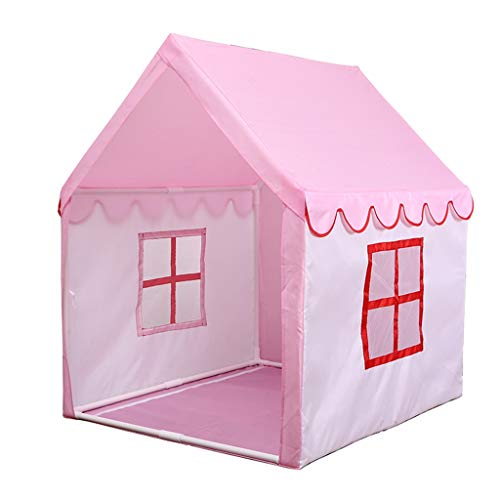 CSQ Girl's Bedroom Play Tent, Pink House Tent Kindergarten Indoor Tent Tale Tent for Child and His Friends - 105 * 90 * 125CM Children's play house (Color : Pink, Size : 105 * 90 * 125CM)