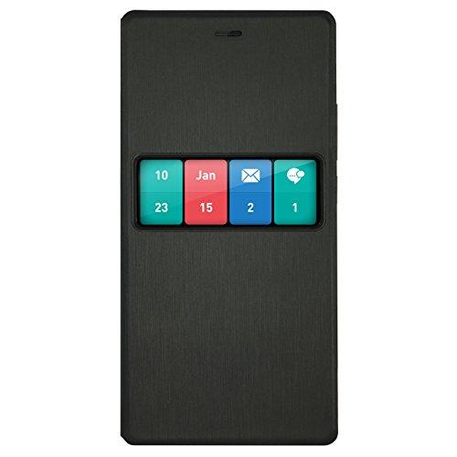 WIKO WISFW0001 - Custodia a Portafoglio per Smartphone, Colore: Nero