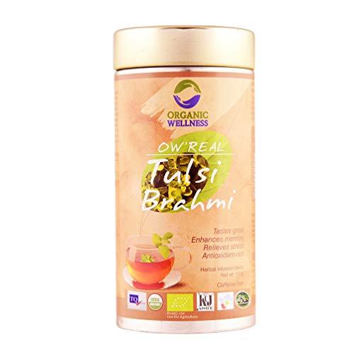 Organic Wellness OW'Real Tulsi Brahmi Green Tea Premium Tin (100 grams / 3.53 oz)