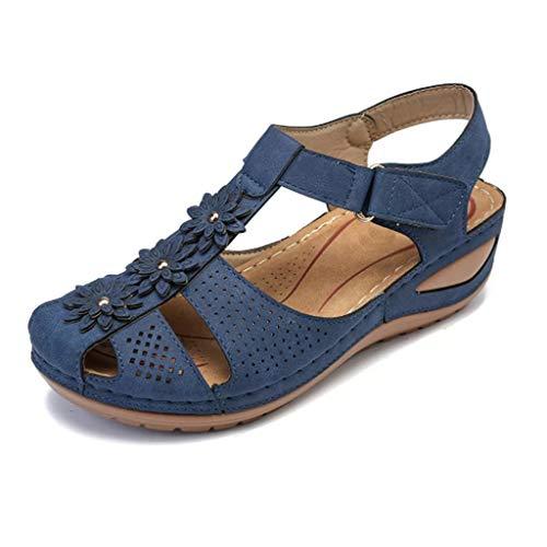 Routinfly Damen Hausschuhe Freizeitschuhe Komfortable runde Zehen Sandalen weiche Sohle Schuhe Leichte Hohle weiche Sohle Freizeitschuhe