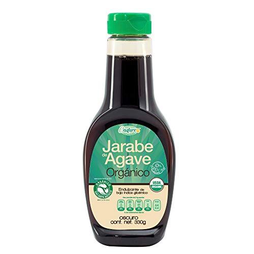Enature Jarabe de Agave Orgánico, Dark, 330 g