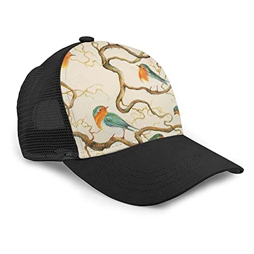 Popluck - Berretto da baseball Robin in The Cavatappi regolabile, con visiera curva in rete, cappello da baseball per lo sport, per il tempo libero, colore: Nero