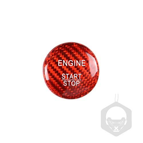 MIAOHAO Etiqueta engomada Arranque Coche Cubierta de Botones de Parada de Motor de Motor de Fibra de Carbono, Pegatinas de Encendido sin Llave, para B-E-N-Z A B C W205 GLC X253 AMG E ML GLE