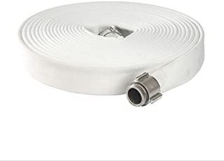White North American Fire Hose P515X50PPRN Corporation Single Jacket Fire Hose Polyester//Rubber//Brass 1-1//2 ID 50/' North American Fire Hose Corporation 017-0050-0024NAFH M x F NST Brass Connectors 50 1-1//2 ID 600 psi 750 psi Burst Pressure