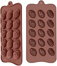 JSPM Silicon Chocolate Candy Mold - Egg Shape, Non-Stick, Reusable, BPA Free 100% Silicone & Dishwasher Safe (Pack of 2)
