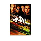 Lilizi The Movie The Fast and Furious Series Paul Walker The Cover Posters Canvas Art Poster and Wall Art Picture Print Modern Family Bedroom Decor Posters 08x12inch(20x30cm)