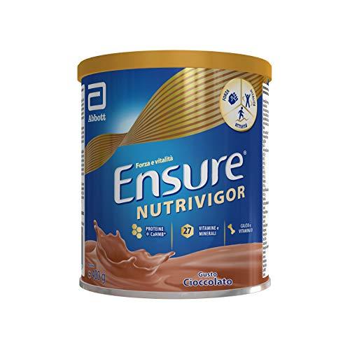 Ensure NutriVigor Integratore in Polvere Alimentare con Proteine, Calcio e HMB, Multivitaminico Multiminerale con 27 Vitamine e Minerali, Cioccolato - 400 g