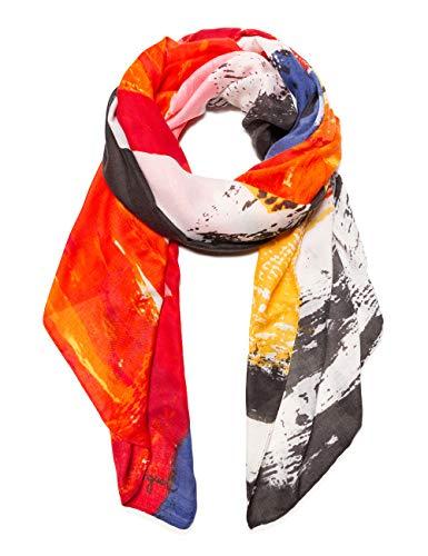 Desigual Damen FOULARD LANDER Schal, Mehrfarbig (Crudo 1001), One Size (Herstellergröße: U)