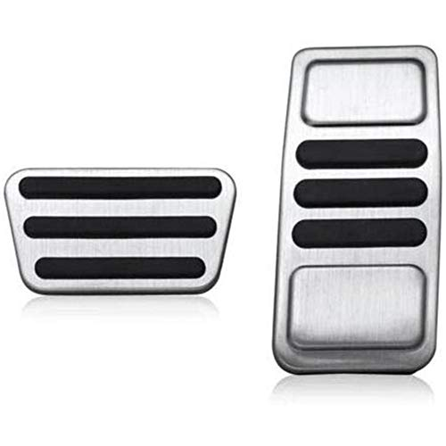 FLJKCT Accelerator Fuel Brake Foot Pedal Pad Cover,for Ford Mustang 2015-2019 Accessory 2Pcs