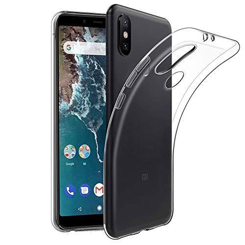 Amonke Handyhülle für Xiaomi Mi A2 - Soft Flexible Xiaomi Mi A2 Hülle Silikon Transparent, Ultra Clear TPU Hülle Cover Durchsichtige Handytasche Schutzhülle für Xiaomi Mi A2