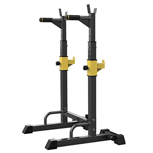 YDYY Squat Rack, Multi-Function Bilanciere Rack, 551LBS Max Load, Sollevamento Pesi Regolabile in Altezza Panca Press Dip Station, Push Up Portable Strength Training Dumbbell Rack