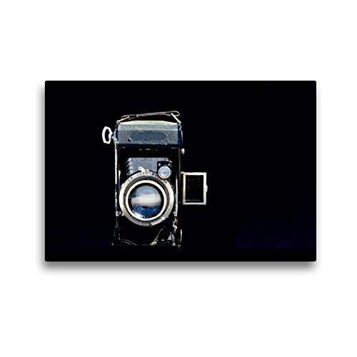 Premium Textil-Leinwand 45 x 30 cm Quer-Format Retro Kamera | Wandbild, HD-Bild auf Keilrahmen, Fertigbild auf hochwertigem Vlies, Leinwanddruck von Heike Hultsch