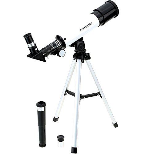 Roeam Telescopio Astronómico Portátil, Zoom 90X HD Telescopio Espacial monocular al Aire Libre, 360/50 mm, telescopio Refractor astronómico, telescopio Espacial con trípode para niños Principiantes