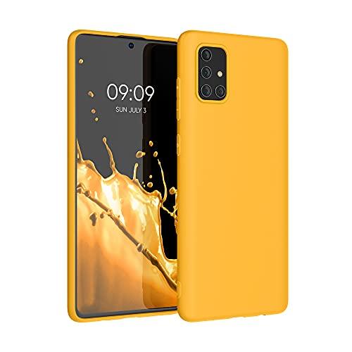 kwmobile Custodia Compatibile con Samsung Galaxy A71 - Cover in Silicone TPU - Back Case per Smartphone - Protezione Gommata Giallo Zafferano