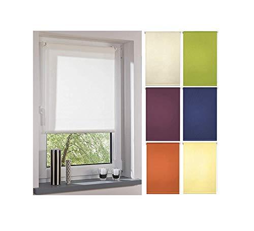 Garduna FIX Tageslicht-Rollo # gelb 45cm # Smartfix - Klemmfix - ohne Bohren - viele Farben & Größen- lichtdurchlässig/Sichtschutz