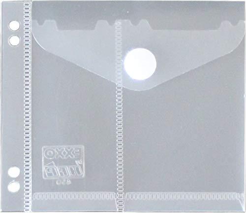 Dokumententasche Hülle für USB-Stick zum Abheften mit Klappe mit Klettverschuss für bis zu 2 USB-Sticks - 20 Stück