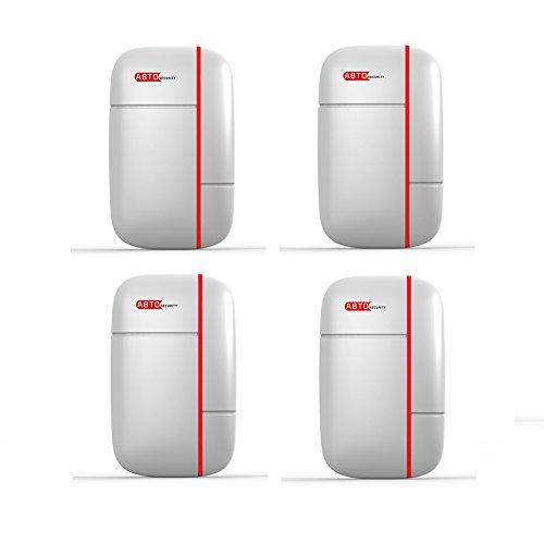 ABTO Home-Security-Lösung Funk-Tür- & Fenster-Sensor für Alarmanlage(4 Packungen)