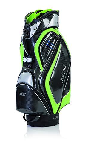 JuCad Bag Professional I Außentaschen I Golfbag I Golftasche I Schirmhalter I Farbe Schwarz-grün