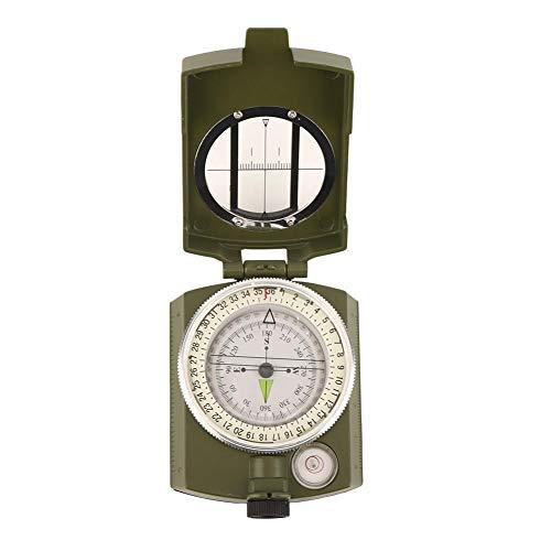 Keenso Outdoor-Aluminiumlegierung Camping Compass Multitool Navigationswerkzeug mit nachtleuchtendem Multifunktionsgerät zum Fahren Wandern