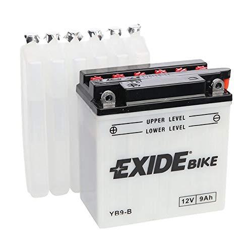 Batteria moto EXIDE EB9-B 9AH 100N YB9-B dimensioni 135X75X140