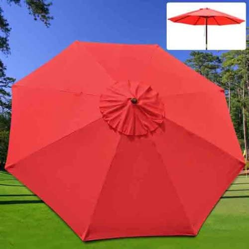 new arrival SS-APT-39621 39621 9FT 8 wholesale lowest Rib Umbrella Cover-RED outlet online sale