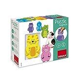 Jumbo Spiele - GOULA Magnetisches Holzpuzzle Tiere, 12teilig Holzspielzeug für Kleinkinder, Ab 1 Jahr
