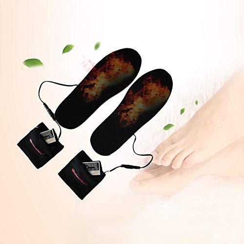 Wärme-Einlegesohlen, Heiz-Einlegesohle, Lithium-Akku, USB-Aufladung, Fußwärmer, Schuhe, geeignet für Outdoor-Sport, Hausarbeit, Wandern, Camping, Angeln