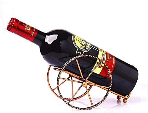 ZHAOJ Estante de Vino Creativo Metal Retro Estante de Botellas de época Mesa Estante de Vino Soporte de Estante de Almacenamiento de Botellas de Vino de Hierro Personalizado Decoración para Sala d