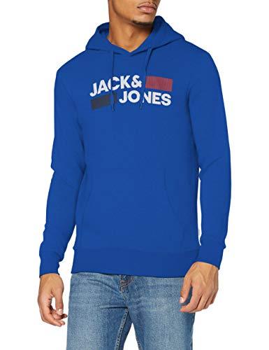 Jack&Jones JJECORP Logo Sweat Hood Noos Sudadera con Capucha, Classic Blue/Detail:Play -...