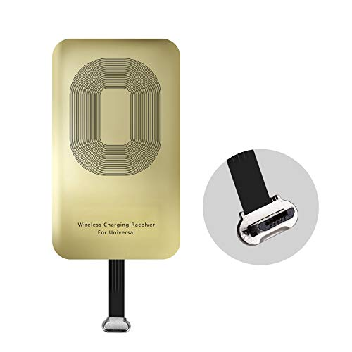 EooCoo Qi Universal Wireless Charging Receiver Card for Smartphones with MicroUSB (USB-Positive) Connector