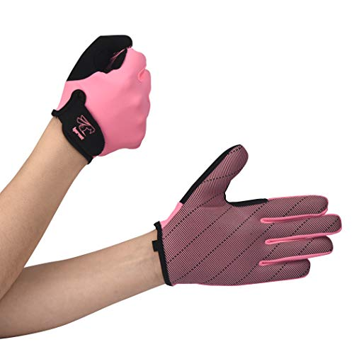 Hornet Watersports Full Finger Pink Rowing Gloves with Non-Slip Grip Ideal for Paddling, Sailing, Fishing, Kayaking, Boating and More )