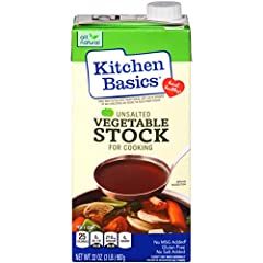 Dark, rich, unsalted stock made with slow-simmered vegetables and herbs and spices** FUN FACT: Package design is easy to pour and reseal for use again and again Certified heart-healthy by the American Heart Association Feel good about serving to your...