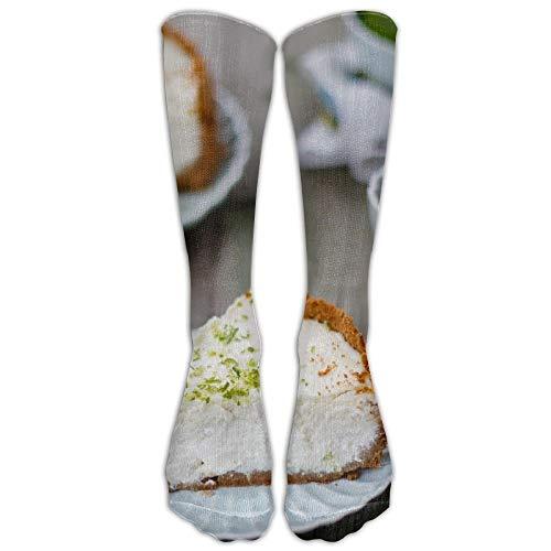 Käsekuchen Kaffee Athletic Tube Strümpfe Frauen Männer Classics Kniestrümpfe Sport Lange Socke One Size