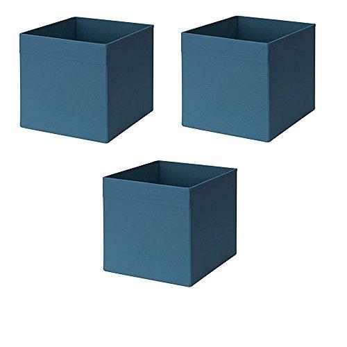 IKEA Drona Box, dunkelblau (3 Stück)