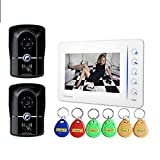 DYWLQ Wired Intercom Doorbell Kit, 7 inch LCD Video Door Phone Security System with IR Night Vision,Waterproof Designed for House Office Apartment