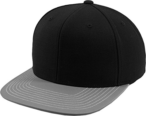 Flex fit Reflective Visor Snapback blk/lgry One Size Casquette Unisex-Adult