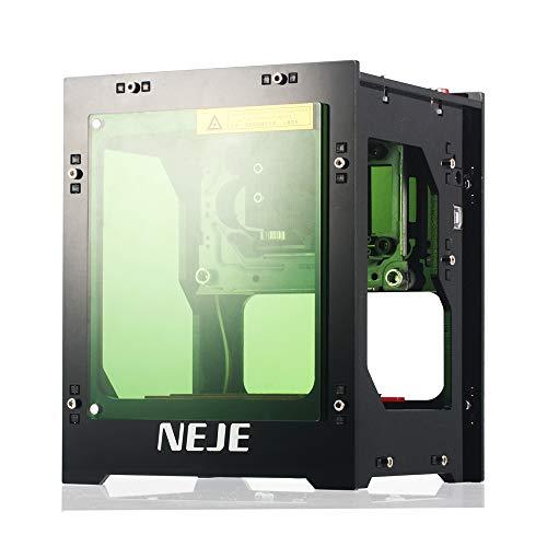 Grabador Láser de Alta Velocidad,1500mW 405nm Mini USB Carver Máquina de Grabado Automática de Impresión DIY Talla Operación Fuera de Línea,para Tallar Caoba,Bambú,Tarjetas de Papel etc