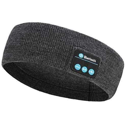 linjunddd Música Inalámbrica Bluetooth Auriculares con Banda De Punto De Dormir Headwear Altavoz De Los Deportes Auricular para Entrenamiento para Correr Yoga Suministros Muy Cómodo