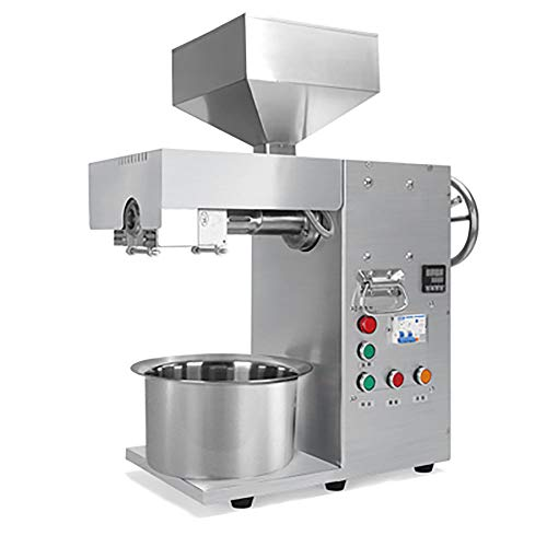 BMGIANT Automatic Oil Press Machine Industrial Stainless Steel Cold Pressed Oil Seed Olive Expeller 3000W Commercial Home Sunflower Oil Extractor Machine 15-20kg/hour