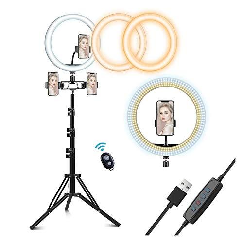 AOIWE Selfie Ring Light con trípode Sky Circle Fill Light Kit para Maquillaje Youtube Video Video en Vivo Cámara de transmisión Teleo de Videos para Maquillaje Vlog Photography