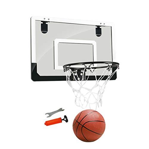 Wakauto 1Pc Mini Tür Hängen Basketball Board Kein Stanzen Schießrahmen Hängen Basketballplatte Transparente Aufhängung Basketball Stand Mini Backboard für Home Office Schwarz Serie