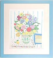 ジョン・ボッツ 「花とレモン」 ポップアート 絵画 花 版画 シルクスクリーン 額付き