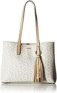 كالفن كلاين حقيبة للنساء-بيج - حقائب بتصميم الاحزمة